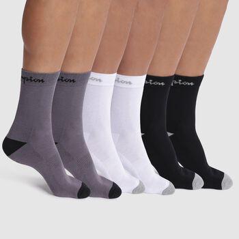 Set di 6 calzini nero, bianco e grigio scuro - Champion Performance, , DIM
