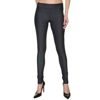 Treggings effetto jeans nero, , DIM