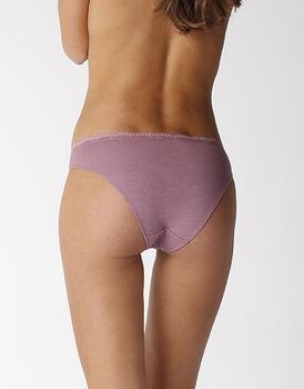 Slip in cotone elasticizzato, rosa antico, , LOVABLE