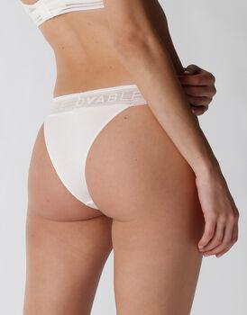 Brasiliano Natural Panties in cotone e modal, avorio, , LOVABLE