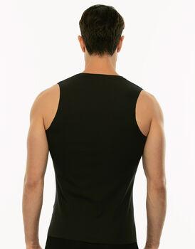 Smanicato in cotone elasticizzato, nero, , LOVABLE