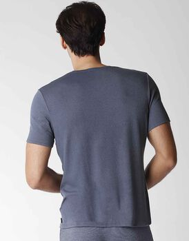 T-shirt uomo manica corta in cotone modal con scollo a V, azzurro, , LOVABLE