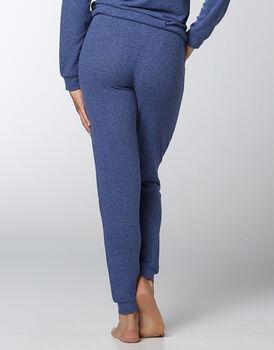 Pantaloni in jersey fluido e caldo, blu melange, , LOVABLE