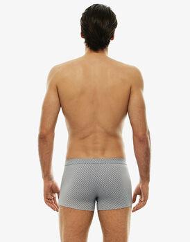 Short boxer grigio ghiaccio stampato in cotone modal-LOVABLE