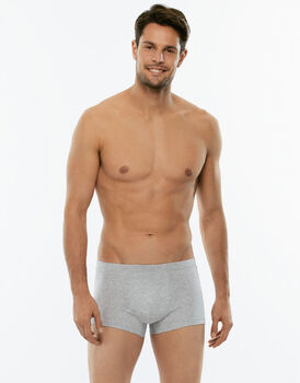 Short boxer 100% Pure Cotton grigio melange in cotone-LOVABLE