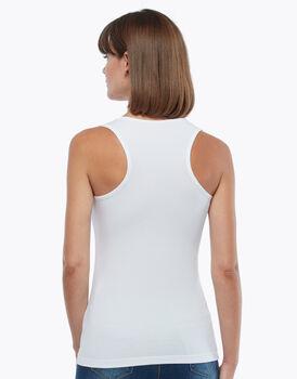 Maglia vogatore bianco, in cotone supima, spalla larga , , LOVABLE