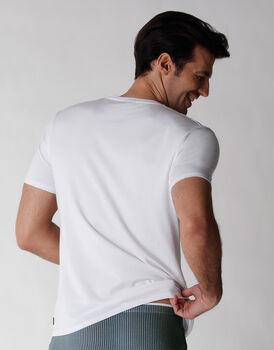 T-shirt uomo manica corta in cotone e modal, bianco, , LOVABLE