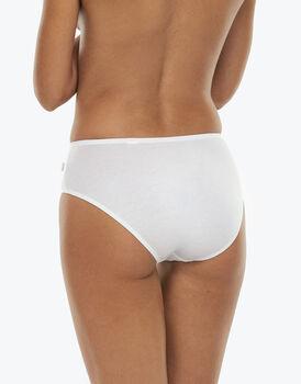 Slip midi Lovely bianco in cotone modal vellutato-LOVABLE