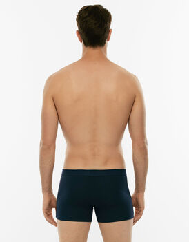 Short boxer Cotton Stretch blu in cotone elasticizzato-LOVABLE