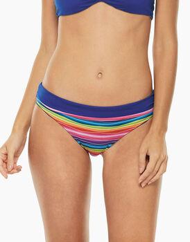 Bikini Slip Reversibile Stampa Arcobaleno e Blu Elettrico in microfibra-LOVABLE