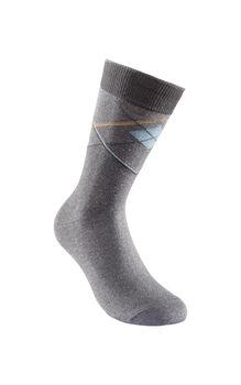 Calza uomo corta grigio scuro in cotone, poliestere, poliammide ed elastane-LOVABLE