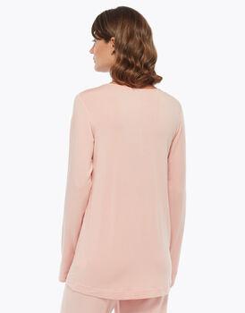 Maglia manica lunga in cotone modal, blush, , LOVABLE