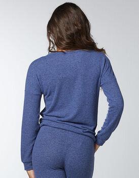 Maglia in jersey fluido e caldo, blu melange, , LOVABLE