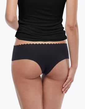 Culotte Invisible Comfort in cotone, nera, , LOVABLE