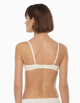 Reggiseno push up vela, avorio, in pizzo e microfibra, , LOVABLE