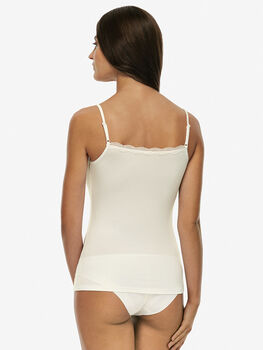Top Basic Soul avorio in viscosa-LOVABLE