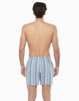Boxer in tessuto cotone poliestere tinto filo, , LOVABLE