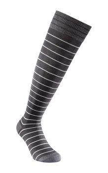 Calza uomo nero lunga in cotone, poliestere poliammide ed elastane-LOVABLE