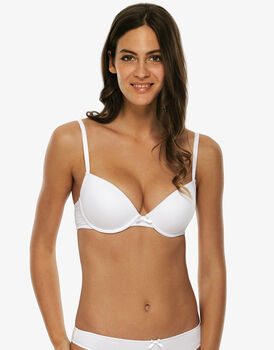 Reggiseno imbottito push up Easy Style Basic Cotton, bianco, in cotone-LOVABLE