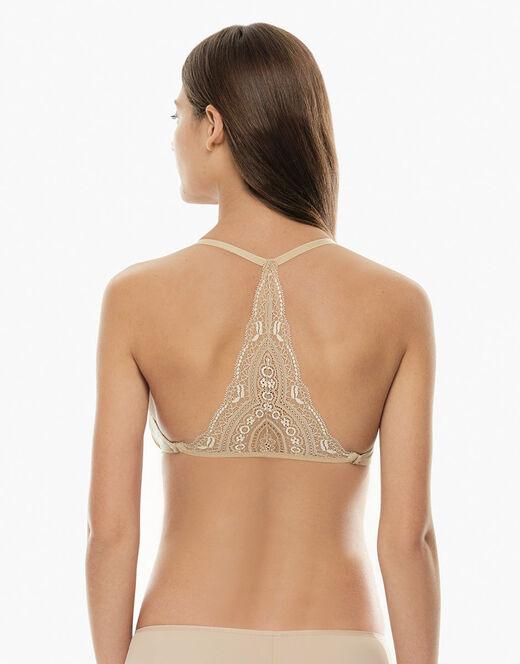 online store 4206e 06cbf Spalline con triangolo di pizzo color skin, applicabilità universale, per  reggiseni con spalline removibili