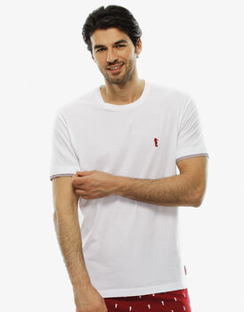 T - shirt manica corta bianco, in cotone-LOVABLE