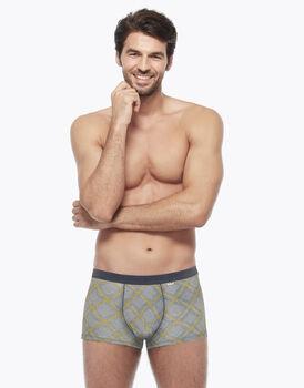 Short in stretch cotton, grigio principe di galles, , LOVABLE