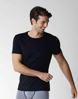 T-Shirt uomo a manica corta in cotone modal, blu navy, , LOVABLE