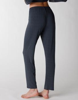 Pantaloni del pigiama in viscosa elasticizzata, blu, , LOVABLE