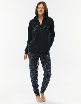 Homewear blu notte in pile-LOVABLE