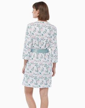 Kimono in cotone modal, stampa a fiori, , LOVABLE