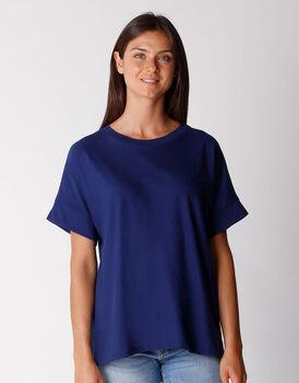 T-shirt manica 3/4 in cotone organico, blu, , LOVABLE