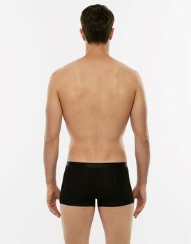 Boxer Invisible Cotton nero in cotone elasticizzato-LOVABLE