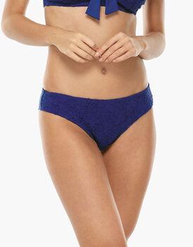 Bikini Brasiliano Blu Elettrico in microfibra e pizzo-LOVABLE