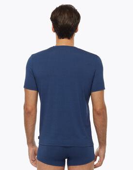T-shirt Graceful con scollo a V in cotone modal, blu royal, , LOVABLE