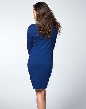 Camicia da notte in viscosa elasticizzata, blu , , LOVABLE
