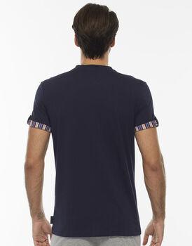 Maglia maniche corte, blu notte, in jersey-LOVABLE
