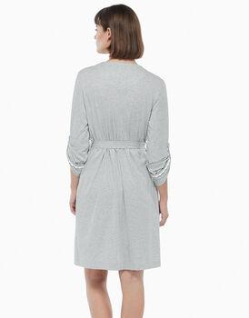 Vestaglia in cotone modal, grigio melange, , LOVABLE