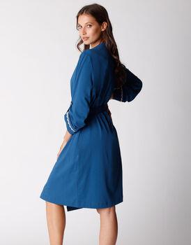 Vestaglia in cotone modal, blu oltremare, , LOVABLE