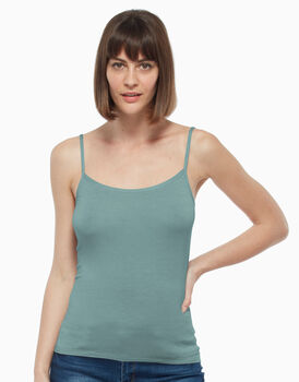 Top in viscosa, verde, , LOVABLE