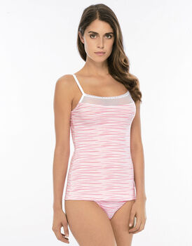 Top Pink Stripes in cotone e tulle -LOVABLE