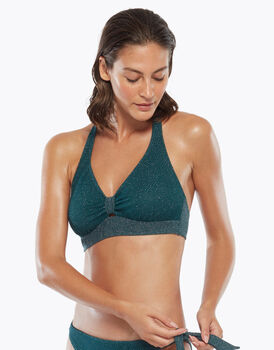 Reggiseno soft vela, in lurex green, , LOVABLE