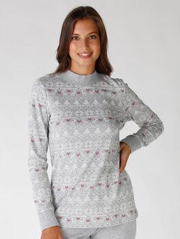 Maglia del pigiama stampa Nordic Print, , LOVABLE