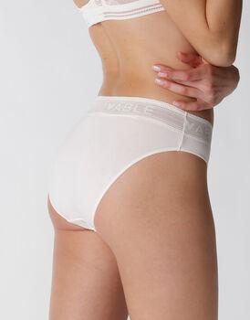 Slip Natural Panties in cotone e modal, avorio, , LOVABLE