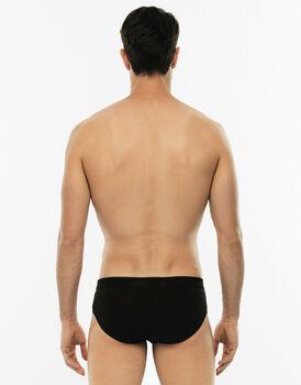 Slip midi Cotton Stretch nero in cotone elasticizzato-LOVABLE