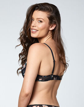 Reggiseno push-up in tulle stampato, stampa floreale, , LOVABLE