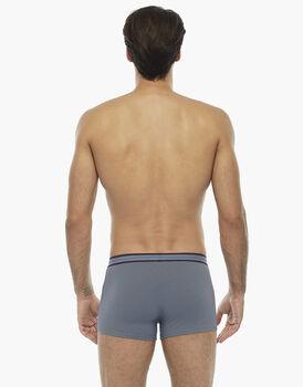 Boxer grigio chiaro, in cotone elasticizzato, con elastico jacquard in vita , , LOVABLE