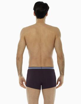 Boxer bordeaux, in cotone elasticizzato, con elastico jacquard in vita, , LOVABLE