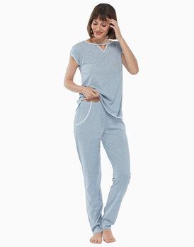 PIgiama in jersey di cotone, jeans melange, , LOVABLE