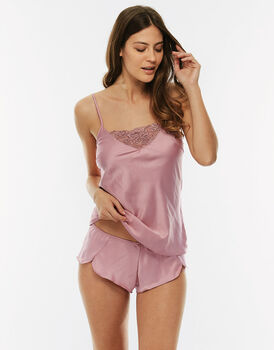 Top + culotte, blush, in raso-LOVABLE