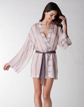 Kimono in tela di viscosa, rigato, , LOVABLE